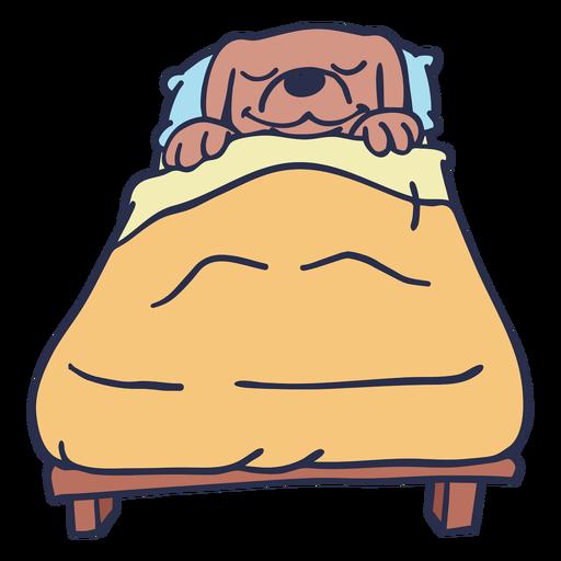 Dog sleeping bed flat stroke
