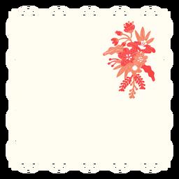 Doily bouquet flower illustration