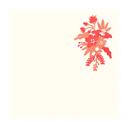 Guardanapo buquê flor ilustração