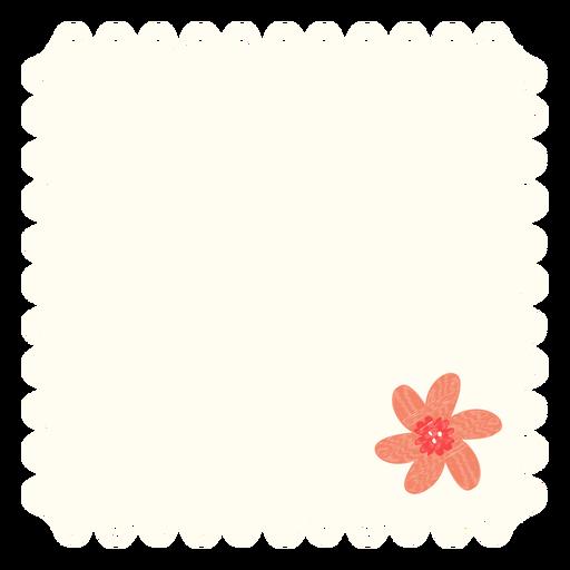 Deckchen Blumenillustration Transparent PNG