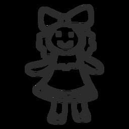 Doodle de menina boneca