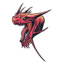 Etiqueta engomada de la insignia del dragón