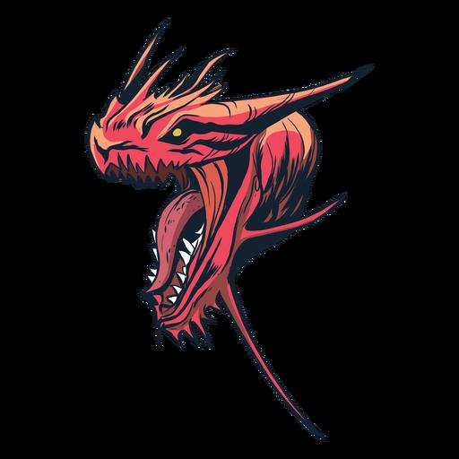 Dragon badge sticker Transparent PNG