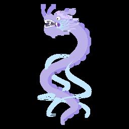 Autocolante plano de dragão