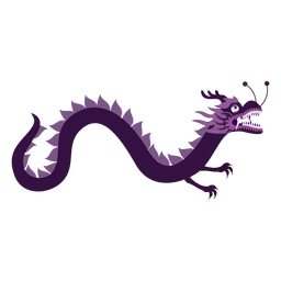 Pegatina de dragón plana