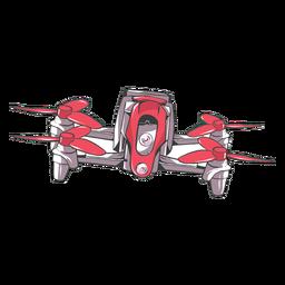 Drohne Quadcopter flach