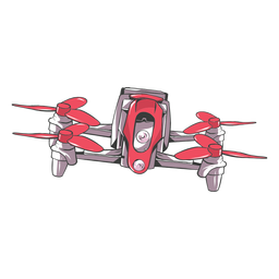 Drone quadcopter flat