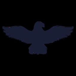 Silueta de pico de ala de águila
