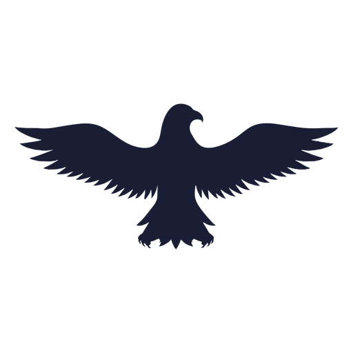 Eagle wing beak silhouette Transparent PNG