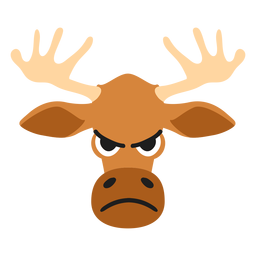Elk moose muzzle angry flat sticker