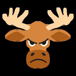 Elk moose muzzle angry flat sticker