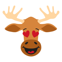 Elk moose muzzle enamoured flat sticker