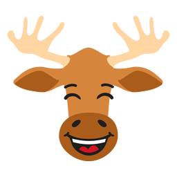 Elk moose muzzle happy flat sticker