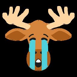Alce alces hocico triste pegatina plana