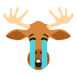 Elk moose muzzle sad flat sticker