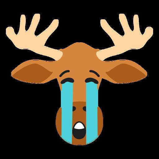Elk moose muzzle sad flat sticker Transparent PNG