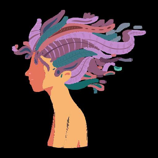 Rosto cabelo longa mulher plana Transparent PNG