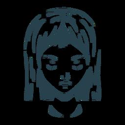 Cara cabello mujer silueta detallada