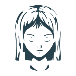 Face hair woman detailed silhouette