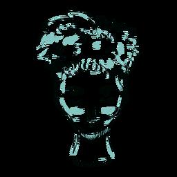 Rosto cabelo mulher ilustração linha
