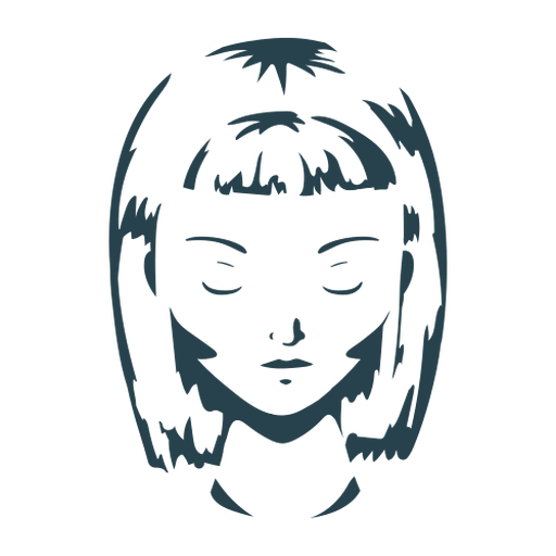 Rostro mujer pelo bob corte silueta detallada Transparent PNG