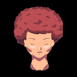 Cara mujer cabello plano