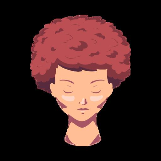 Cara mujer cabello plano Transparent PNG