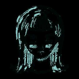 Ilustración de línea de cabello mujer cara