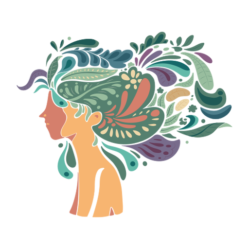 Cara mujer cabello largo plano Transparent PNG