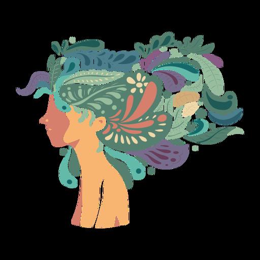 Face woman hair long flat Transparent PNG