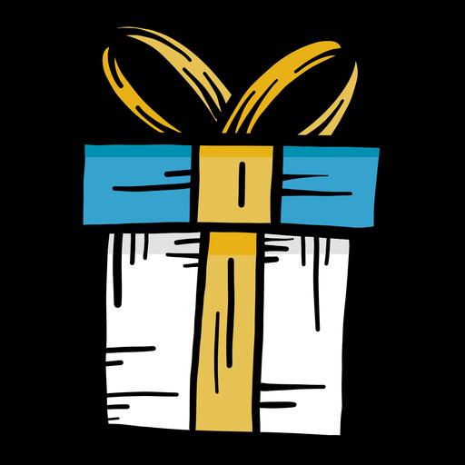 Gift flat stroke Transparent PNG