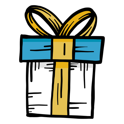 Golpe plano de regalo