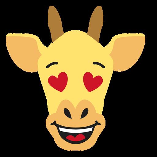 Bozal de jirafa enamorado pegatina plana Transparent PNG