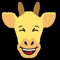 Bozal de jirafa feliz pegatina plana