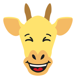 Giraffe muzzle happy flat sticker