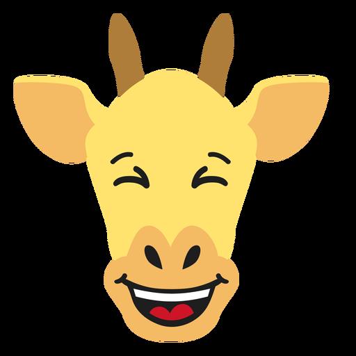 Bozal de jirafa feliz pegatina plana Transparent PNG