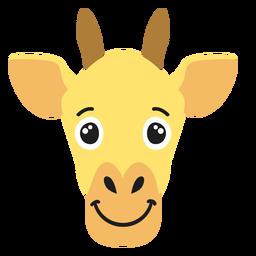 Bozal de jirafa alegre pegatina plana