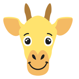 Giraffe muzzle joyful flat sticker