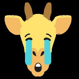Adesivo de girafa focinho triste