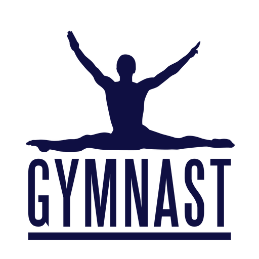 Insignia de etiqueta de hombre gimnasta Transparent PNG