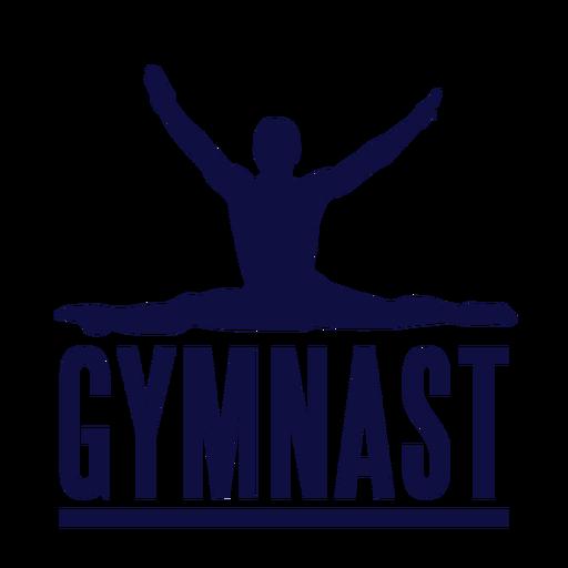 Insignia de etiqueta de hombre gimnasta