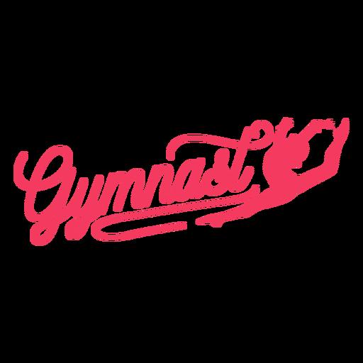 Gymnast woman badge sticker Transparent PNG