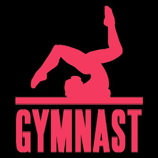 Insignia de etiqueta de mujer gimnasta