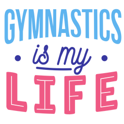Gymnastics is my life badge sticker