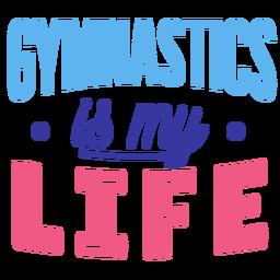 La gimnasia es mi etiqueta de la insignia de la vida