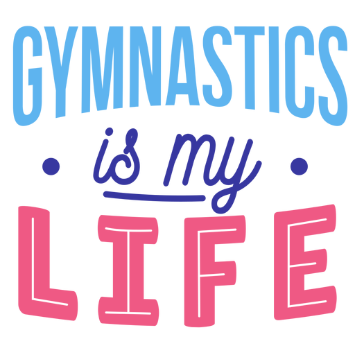 Gymnastics is my life badge sticker