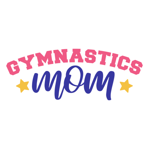 Etiqueta engomada de la insignia de la estrella de la mamá de la gimnasia Transparent PNG