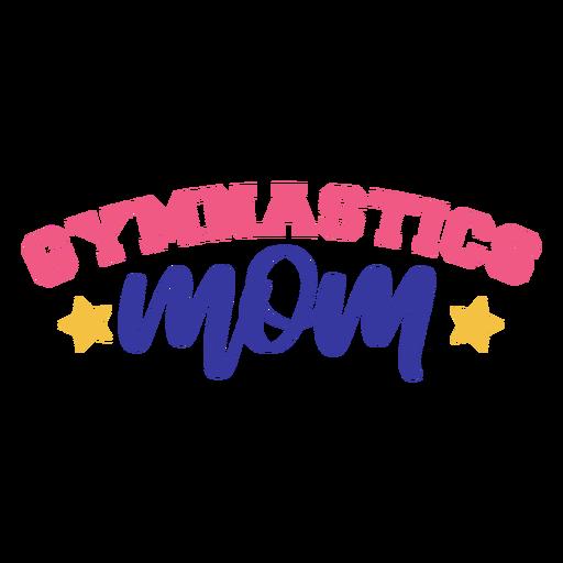Gymnastics mom star badge sticker