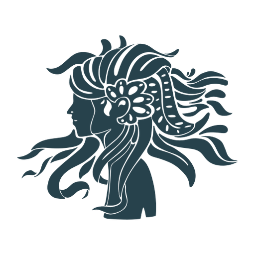Hair long face woman detailed silhouette Transparent PNG