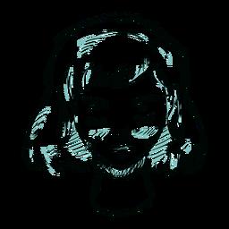 Ilustração de linha de rosto de mulher de cabelo
